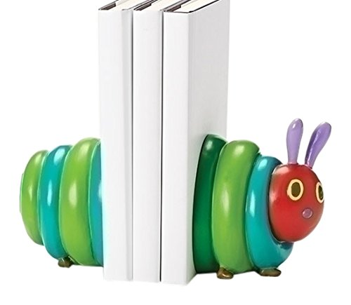 The Very Hungry Caterpillar Tall Bookends from The World of Eric Carle (Set of 2), 4.75'