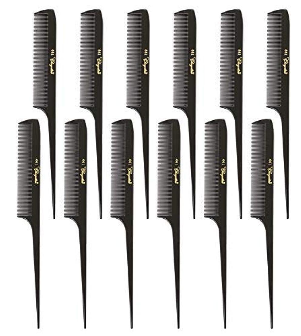 粘液規制するキャンドルKrest Cleopatra 8-1/2 inch Rattail Combs Extra Fine Tooth. Rat Tail Model #441 Dark Brown. 1 Dozen [並行輸入品]