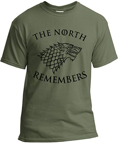 The North Remembers Shirt - Camiseta Stark GoT - verde - Large