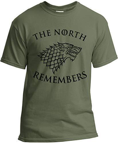 The North Remembers Shirt - Camiseta Stark GoT - verde - Large