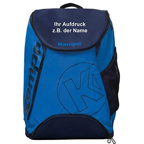 Kempa Rucksack mit zusätzlichem Bodenfach blau 50 x 40 x 25 cm, Volumen 50 L mit Aufdruck Name