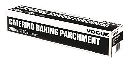 Vogue CF349, revestimiento de silicona para hornear papel de pergamino, 290mm de ancho x 50m de longitud