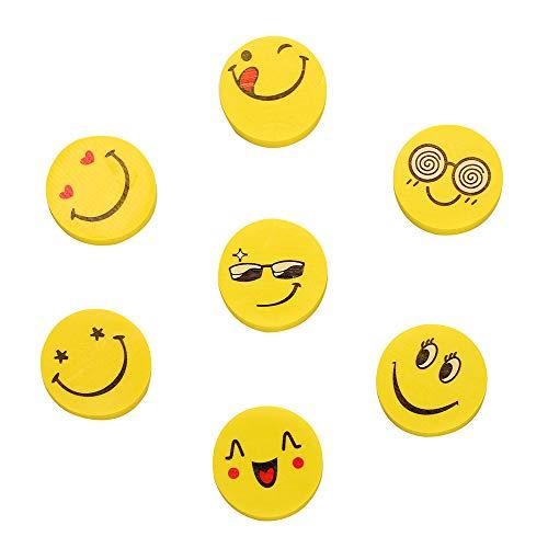 Siumir Mini Smiley Radiergummi Emoji-Radierer Party für Geschenk 48 pcs