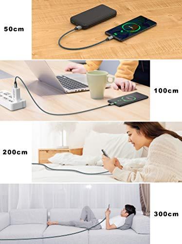GIANAC USB C Kabel [4Pack 0.5M+1M+2M+3M] Ladekabel Typ C und Datenkabel Fast Charge Sync Schnellladekabel für Samsung Galaxy S10 S9 S8 Plus Note 10 9 8 A3 A5 2017, Huawei P10 P20 lite, Google Pixel