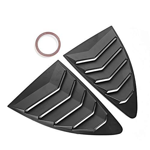 KIMISS Seitenfenster Luftschlitze, 2 Stück ABS Heckscheiben Luftschlitze Spoiler Panel Fit für 86 GT86 2013-2019 (Matt Black)
