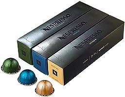 Assortiment de capsules de café Nespresso Vertuoline - Les meilleures ventes: 1 pochette de Stormio, 1 pochette d'Odacio...
