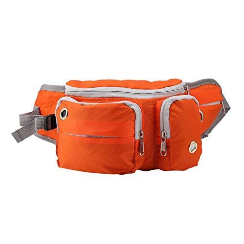 CHICIRIS Bolsa para Perros de Entrenamiento de Viaje para Perros, Bolsas de Cintura con dispensador, Bolsa para Mascotas con Correa para Correr, para Mascotas, Gatos(Orange)