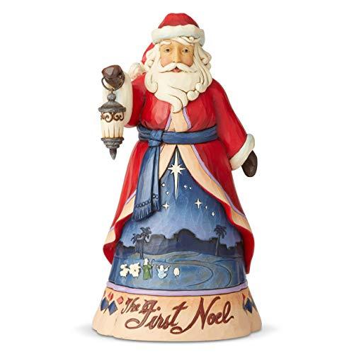 Enesco Jim Shore Heartwood Creek First Noel Santa Figurine, 9.8 Inch, Multicolor