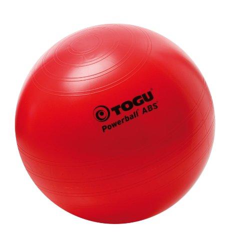 Togu, Fitball Powerball ABS, Rosso (Rot), 65 cm, confezione da 4