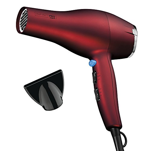 INFINITIPRO BY CONAIR 1875 Watt Full Size Salon Performance AC Motor Styler/Hair Dryer; Soft Touch Red
