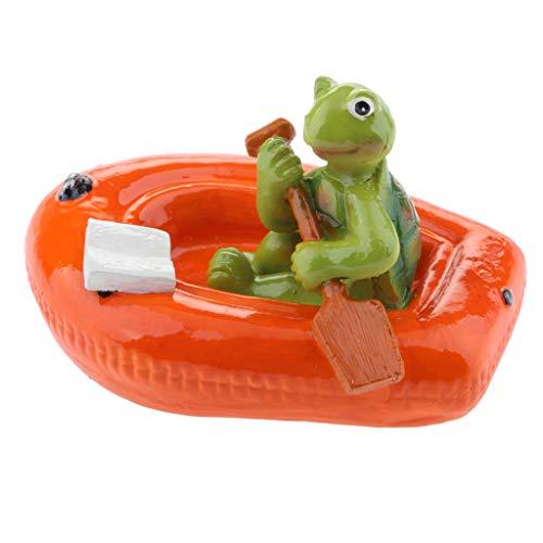 FutuHome Wasser Schwimmende Schildkröte Lotus Blatt Ornament Teich Dekor - 6# rote Boot Schildkröte