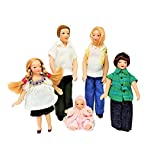Melody Jane Dollhouse Modern Summer Family Miniature Porcelain People Figures