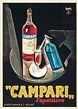 World of Art Póster de reproducción con Cervezas, vinos y licores Vintage de Campari l'A...