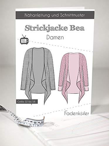 Cartamodello per cardigan Bea – Donna nelle taglie da 32 a 58 cartamodello