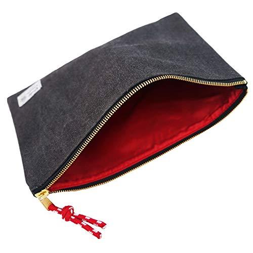 Rough Enough Canvas File Folder Organizer Letter Size Document Bag Case Pouch Paper Notebook Envelopes Magazine with Zipper for Filing Laptop Accessories Office School Supplies Exam Car Photo #5