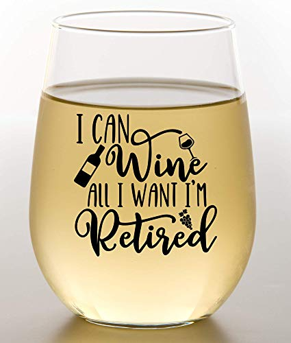 Funny Retirement Gift Wine Glass For Women - Humorous Gifts For Retired Coworkers - Unique Wine Glass With Funny Saying - Happy Retirement Gifts 2021