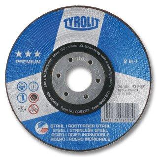 TYROLIT Rondeller Premium*** 2in1 | 115 mm | Korn 60 | Form 29RON | 1 Stück
