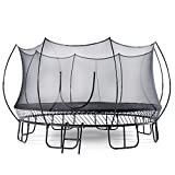 Springless Outdoor Trampoline - No Springs Round Trampoline for Kids and Adults with Enclosure Net and Ladder. (10ft)
