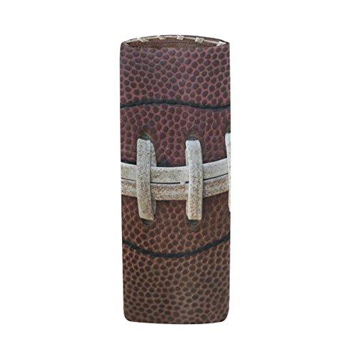 Bleistift Fall Zylinder Form Halter American Football Stift Stationery Tasche Tasche mit Reißverschluss Make-up