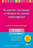 Economie, sociologie et histoire du monde contemporain