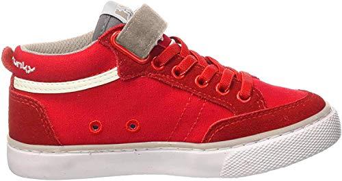 drunknmunky scarpe uomo DrunknMunky Scarpa Mid in Tela da Maschio Rosso