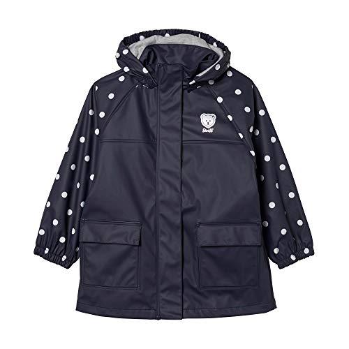 Steiff Baby-Mädchen Raincoat Raglan Regenmantel, Blau (Black Iris 3032), 86 (Herstellergröße: 086)