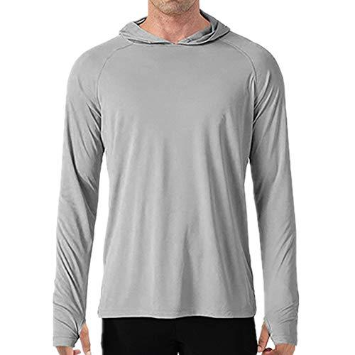 N\P Camisetas informales de manga larga para hombre, transpirables, ligeras, de rendimiento
