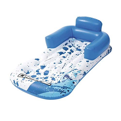 YLLAND Hamaca de agua cómoda, hamaca de agua para adultos, respaldo para adultos, cama flotante inflable de una sola fila flotante, cama de agua de playa, colchón de aire de agua y LNNDE