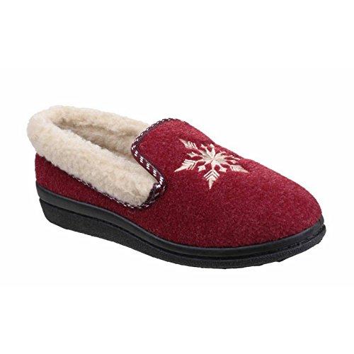Mirak - Zapatillas de Estar por casa Modelo Snowflake para Mujer (38 EU) (Rojo)