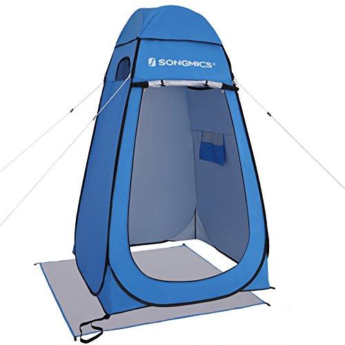 SONGMICS Camping Umkleidezelt, Outdoor, Privatsphäre, Pop-Up Zelt, wasserfest und tragbar, blau GPT01BU