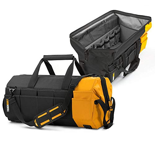 ToughBuilt - 26' Massive Mouth Tool Bag | 62 Pockets & Loops, Extreme...