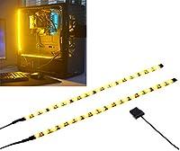 PC LEDストリップは磁石を持って、PCケースに飾ります照明(黄金色LED、30cm、18leds、Sシリーズ)