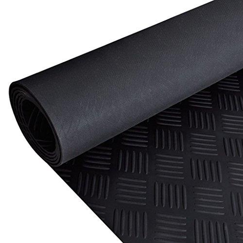 Tapijt Onderlaag Zwart Rubber Vloermat Anti-Slip 7' x 3' Checker Plate Huishoudelijke Tapijten