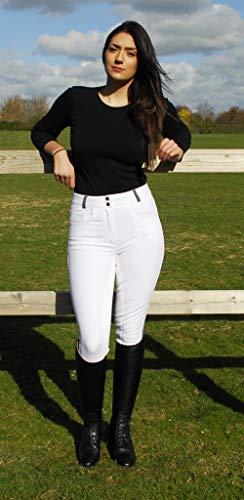 Rhinegold Culotte à Point contrasté pour Femme Blanc 42 (EU 44)