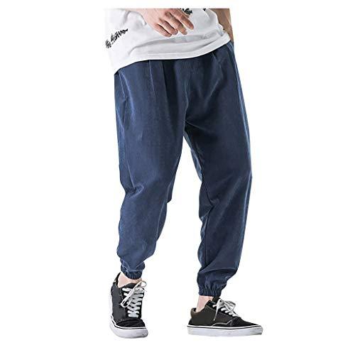 Mymyguoe Herren Hip Hop Hose Hipster Style Loose Fit Hose Jogginghose Baggy Harem Fitnesshose Sweatpants Sport Fitness Herren Jeans Frühling Baggy...