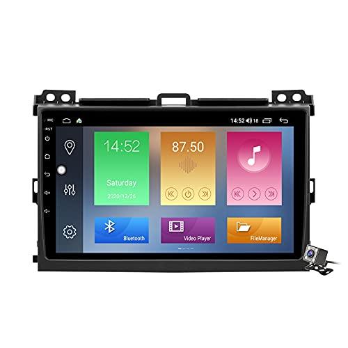 Gokiu Android 10 Car Stereo 2 DIN Head Unit para Toyota Land Cruiser Prado 2004-2009 Navegación GPS Pantalla de 9 Pulgadas con 4G 5G WiFi DSP FM Am RDS Radio Reproductor Multimedia Carplay,M600