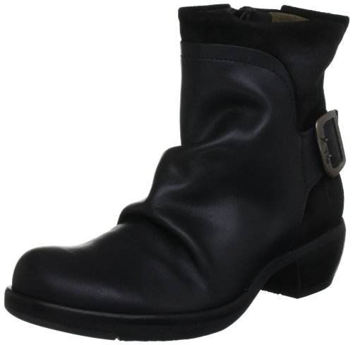 FLY London Mel P141633, Damen Biker Boots, Schwarz (BLACK 003), 38 EU (5 UK)
