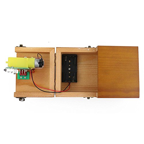 OUYAWEI Volledig gemonteerd draait zichzelf uit nutteloze doos laat me alleen Machine Box met echt hout voor Geek geschenken of bureau speelgoed