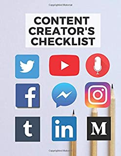 Content Creator's Checklist, Notebook, Planner and Journal: Social media content planning and concepts on paper to help you organise your online business and entrepreneurial projects