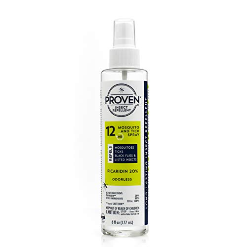 Proven Insect Repellent Spray – Protects Against Mosquitoes, Ticks and Flies - Odorless, 6 fl. oz.