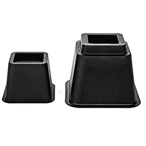Home Solutions Premium Adjustable Bed Risers or Furniture Risers 3, 5 or 8-Inch Bed Riser, Table Risers, Chair Risers or Sofa Risers
