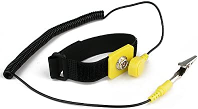 Rosewill Anti Static Wrist Strap Band, ESD Strap Anti Shock Wristband Bracelet with Grounding Wire Alligator Clip, Detachable Extra Long Cord (Packaging May Vary) - RTK-002