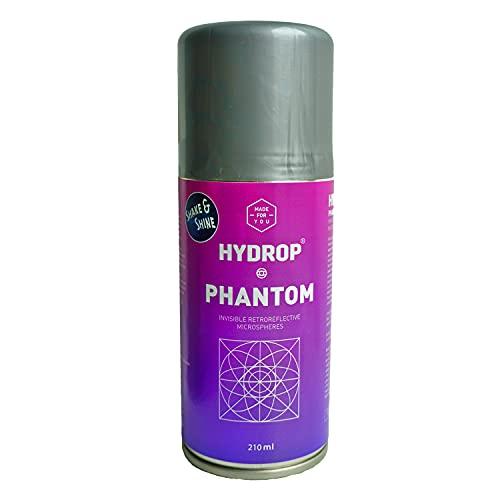 HYDROP - Spray Rétro Réfléchissant - Produit pour Vêtements, Chaussures, Sacs à dos et Accessoires en Tissu - Assure la Sécurité sur la Route - Protège la Nuit - 210 ml