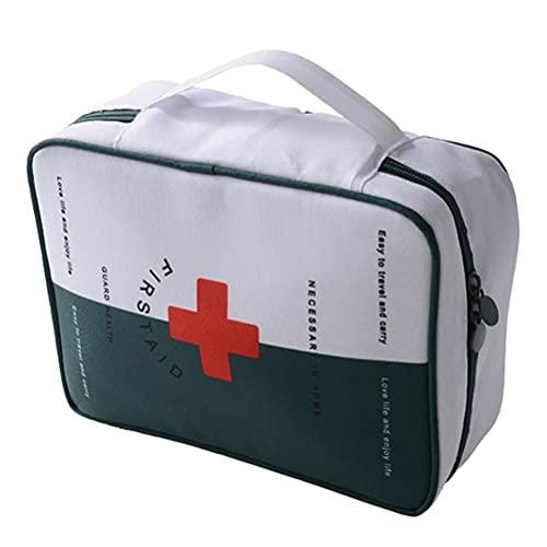 Fencelly Kit de primeros auxilios bolsa médica, impermeable, gran capacidad, portátil, bolsa de almacenamiento vacía para viajes domésticos