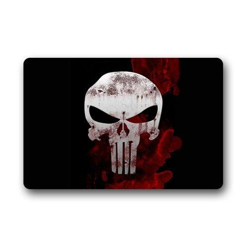 Punisher Skull doormats egood k32589Custom Maschinenwaschbar Waschmaschine gewaschen Fußmatte für Innen Außen Boden Matte Gate Pad Bezug 59,9x 39,9cm