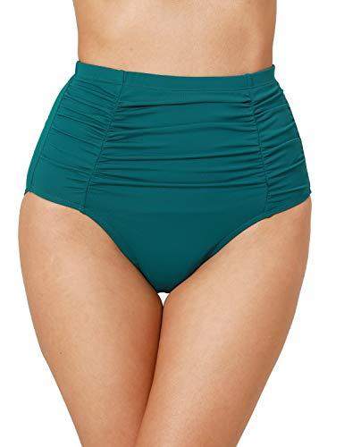Dobreva Costume da Bagno a Vita Alta Donna Bikini Bottom Swimsuit Beachwear La Nebbia della Foresta 44