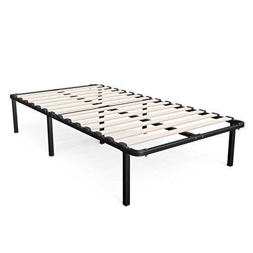 Zinus Cynthia 14 Inch MyEuro SmartBase / Wooden Slat / Mattress Foundation / Platform Bed Frame / Box Spring Replacement, Twin