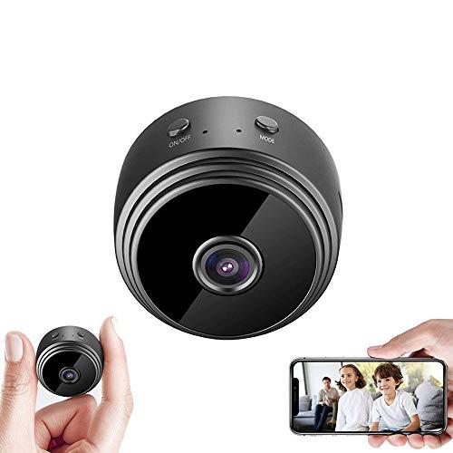 Mini cámara, mini cámara WiFi, Full HD 1080P portátil cámara de seguridad para el hogar, cámara pequeña con visión nocturna IR alertas de detección de movimiento para el hogar interior
