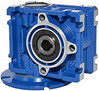 BEMONOC DC Right Angle Gearbox RV025 Reduction Ratio 1:10 Geared Speed Reducer Head Reversible