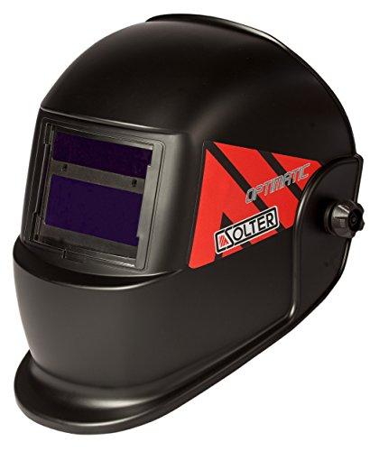 SOLTER Pantalla de soldadura Optimatic 55 Careta para soldadura regulable 9-13 Ideal para Electrodo-MMA, MIG-MAG y TIG